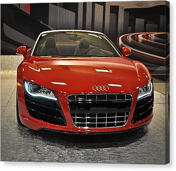 Red Audi R8 Seattle Auto Show 2011 Canvas Print