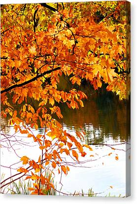 Red Autumn Leaves 2 Canvas Print by Lanjee Chee