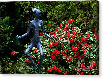Canvas Print featuring the photograph Red Azalea Lady by Susanne Van Hulst