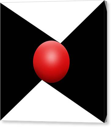 Red Ball S Q 1 Canvas Print by Mike McGlothlen