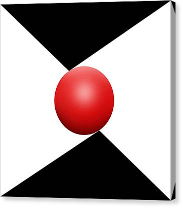 Red Ball S Q 2 Canvas Print by Mike McGlothlen