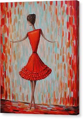 Red Ballerina Canvas Print