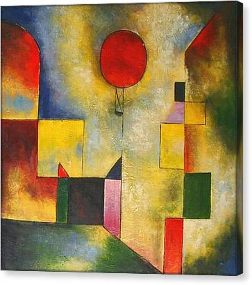 Red Balloon Canvas Print by Paul Klee