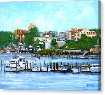Red Bank From The Molly Pitcher Hotel Canvas Print