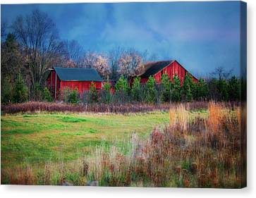 Red Barn At Retzer Nature Center Canvas Print by Jennifer Rondinelli Reilly - Fine Art Photography