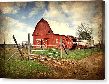 Red Barn Dent County Canvas Print