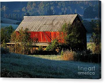 Red Barn Canvas Print by Douglas Stucky