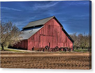 Canvas Print featuring the photograph Red Barn by Jim and Emily Bush