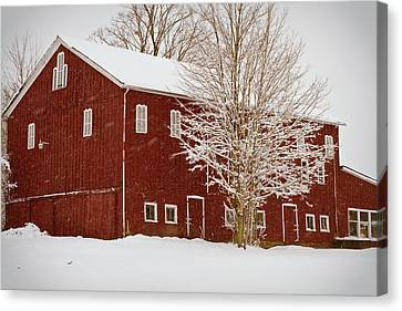 Red Barn IIi Canvas Print by Tim Fitzwater