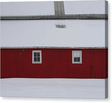 Red Barn  Canvas Print by Julie Lueders