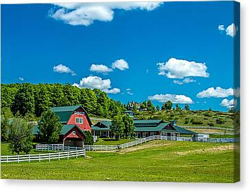 Canvas Print - Red Barn On Hoyt Road by Bill Gallagher