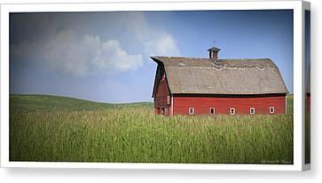 Red Barn Pano Canvas Print