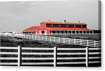Red Barn Canvas Print by Parker Cunningham