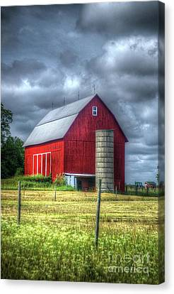 Red Barn Canvas Print by Randy Pollard