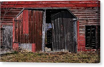 Red Barn Side Canvas Print