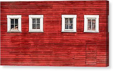 Red Barn Side Canvas Print by Todd Klassy
