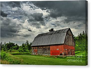 Red Barn Canvas Print by Tim Wilson
