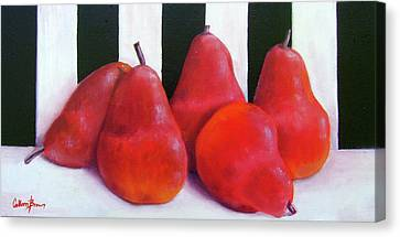 Red Bartletts Canvas Print by Colleen Brown