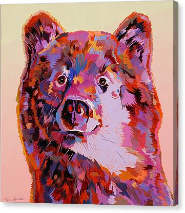 Red Bear Canvas Print by Bob Coonts