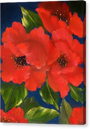Red Beauty Canvas Print by Joni McPherson
