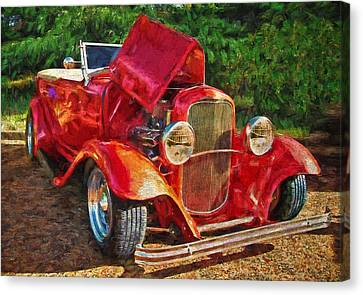 The Red Bell Roadster Canvas Print