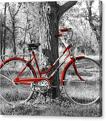 Red Bicycle II Canvas Print by James Granberry