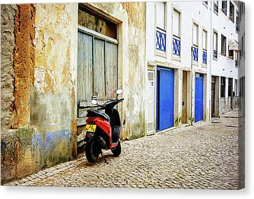 Canvas Print featuring the photograph Red Bike by Marion McCristall