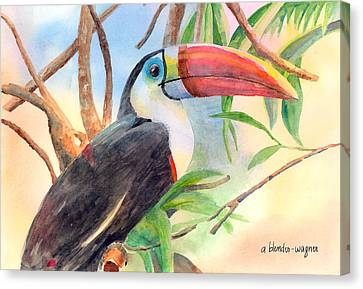 Red-billed Toucan Canvas Print by Arline Wagner