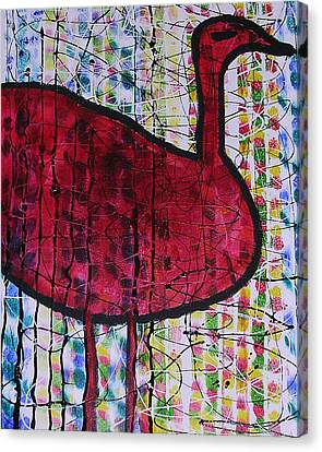 Red Bird 2 Canvas Print by Russell Simmons