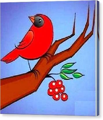 Red Bird Canvas Print by Prakash Tammireddy