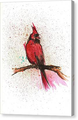 Red Bird Canvas Print by Remy Francis