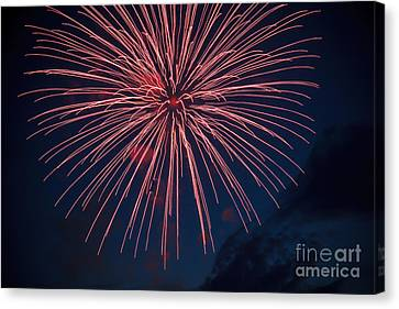 Red Blast Canvas Print by Robert Bales