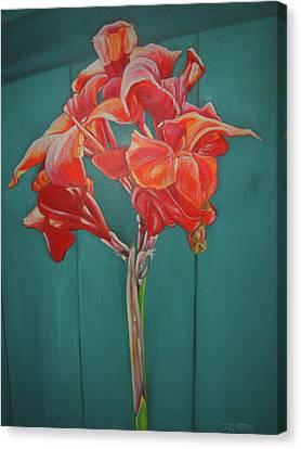 Red Bloom Canvas Print by John Keaton