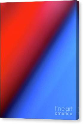 Red Blue Canvas Print by CML Brown