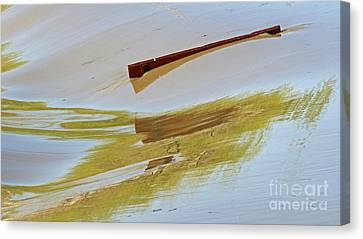 Red Board Over The Dam Canvas Print by Steve Augustin