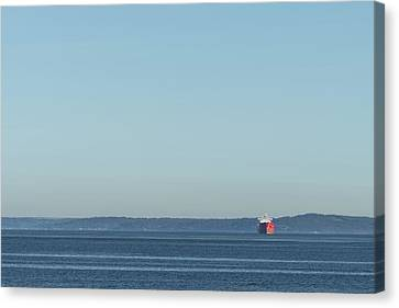 Red Boat 1 Canvas Print