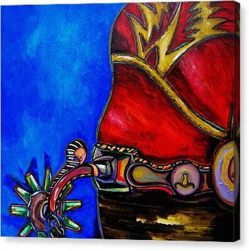 Red Boot Canvas Print by Patti Schermerhorn