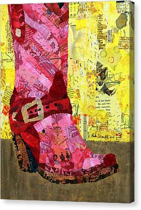 Red Boot Canvas Print by Paula Dickerhoff