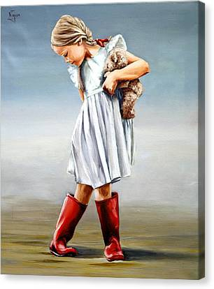 Red Boots Canvas Print by Natalia Tejera