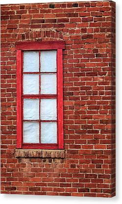 Canvas Print featuring the photograph Red Brick And Window by James Eddy
