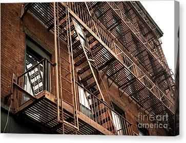 Red Brick In Chinatown Canvas Print by John Rizzuto