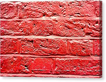 Red Brick Wall Canvas Print by Tom Gowanlock