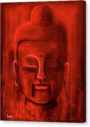 Buddha Canvas Print - Red Buddha by Roly Orihuela