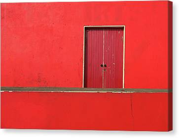 Colour Canvas Print - Red Building Abstract by Patrick Dinneen