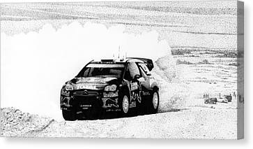 Red Bull Rally Canvas Print