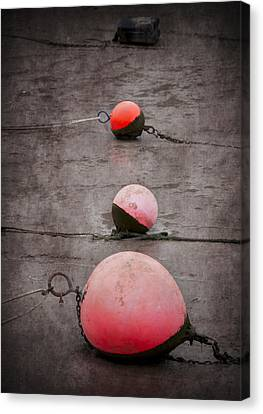 Red Buoys  Canvas Print by Svetlana Sewell