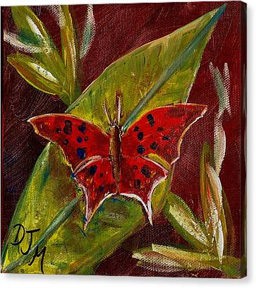 Red Butterfly Canvas Print by Dalila Jasmin