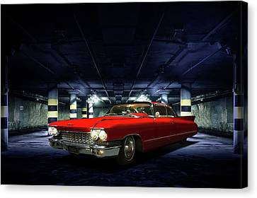 Red Caddie Canvas Print by Steven Agius