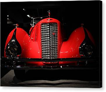 Red Cadillac Canvas Print by Transportation Photographs
