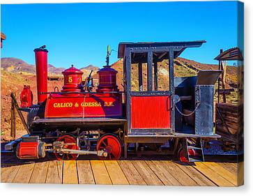Red Calico Odessa Rr Canvas Print by Garry Gay